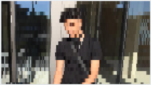 Young person - image blurred to anonymise